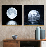 Space Astronaut Planet Canvas Painting Moon Eclipse Posters And Print Modern Wall Art Picture For Living Room Studio Aisle Decor - one46.com.au