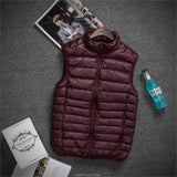 2018 men White Duck Down Jackets male Autumn Winter Warm Coat sleeveless Ultralight Down coats new Windproof hooded clothing man - one46.com.au