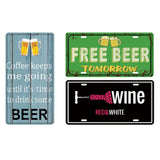 Wine/Whiskey/Beer/Cocktail Vintage Home Decor Tin Sign 15*30cm Sign Bar/Pub/Garage Wall Decor Metal Plaque Poster - one46.com.au