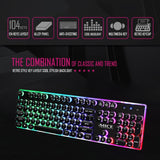 iMICE AK-700 Wired USB Keyboard Desktop Gaming Keyboard 104Keys Backlit LED Mechanical Felling Retro Punk Laptop Gamer Keyboard - one46.com.au