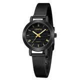 Simple Ladies Gold Watch Women Famous Brand Minimalist Steel Mesh Simple Geneva Watch Women Role Quartz Watch @F - one46.com.au