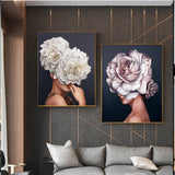 Abstract Beautiful Feather Angel Canvas Poster And Print Modern Lady Picture Paiting For Living Room Fashion Home Decor Wall Art - one46.com.au