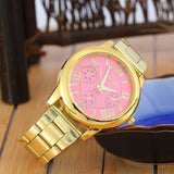 2019 New Brand 3 Eyes Gold Geneva Casual Quartz Watch Women Stainless Steel Dress Watches Relogio Feminino Ladies Clock Hot Sale - one46.com.au