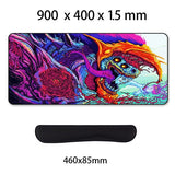 Game 900x400mm Hyper Beast XL Large Locking Edge Gaming Mouse Pad CS GO Keyboard Rubber Mousepad Wrist Rest Table Computer Mat - one46.com.au