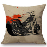 Vintage Classic Motorcycle Poster Cushion Cover Home Motorbike Decorative Pillow Case Cojines Decorativos Para Sofa Pillow Cover - one46.com.au