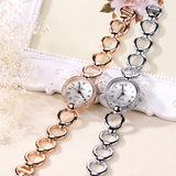 Hot sale Gold Watch Womens Luxury New Lady Dress Quartz-Watch Gifts For Girl Full Stainless Steel Rhinestone Wrist watches - one46.com.au