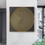 Modern Black And Gold Poster And Print Luxurious Canvas Painting Unique Wall Art Picture For Living Room Studio Aisle Home Decor - one46.com.au