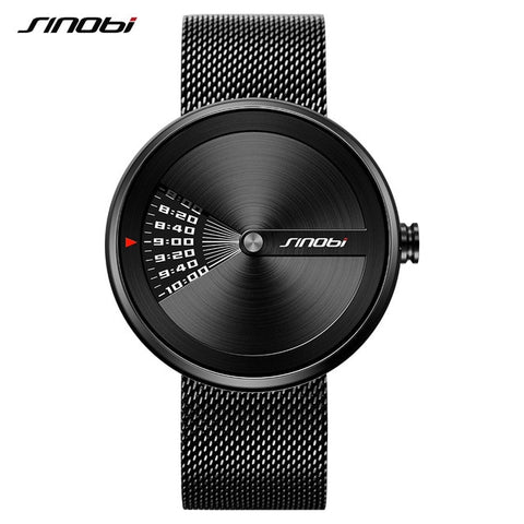 SINOBI Top Brand Luxury Turntable Men's Wrist Watches Creative Men's Watch Men Watch Clock erkek kol saati relogio maculino - one46.com.au