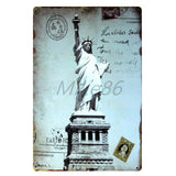 [ Mike86 ] London New York Paris CUBA Tin Sign Custom Travel Poster Personality Classic Iron Painting Decor Art LT-1703 - one46.com.au