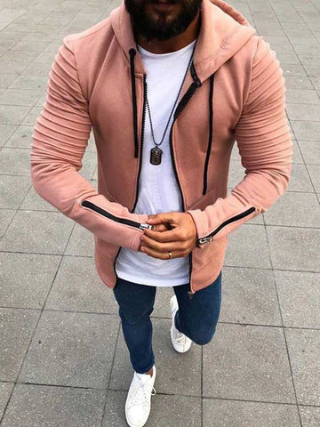 TANGNEST Autumn 2019 Men's New Casual Hoodie Jacket Loose  Design Men Coat Comfortable Solid Color Mens Jackets MWJ2579 - one46.com.au