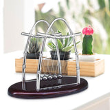 Newtons Cradle Early Fun Development Educational Desk Toy Gift Creative Steel Balance Ball Physics Science Pendulum Miniatures - one46.com.au