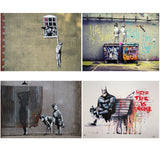 Graffito Poster Nude Man Canvas Painting Banksy Style Wall Pop Art Posters and Prints Wall Picture For Living Room Home Decor - one46.com.au