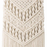 Macrame Woven Wall Hanging Boho Chic Bohemian Room Geometric Tapestry Art Beautiful Apartment Dorm Room Decoration 14in W x - one46.com.au