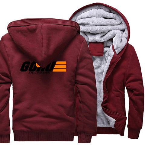 super Saiyan hip-hop tracksuits 2019 Casual wool liner thicken hoodies men Dragon Ball Z long sleeve sweatshirts zipper jackets - one46.com.au