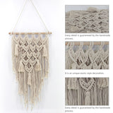 Home Tapestry - Bohemian Style Macrame Handmade Knitted Pendant Wall Hanging of The Living Room Bedroom Decoration - one46.com.au