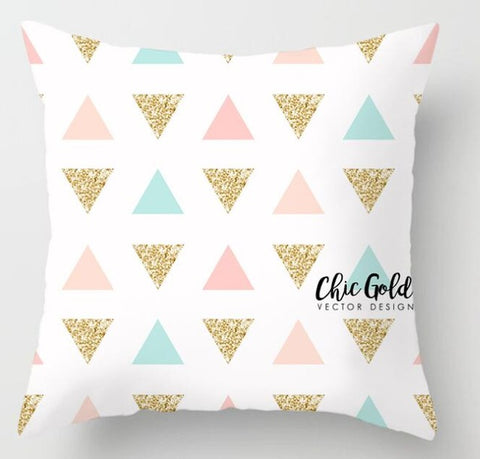 ZENGIA Pink Geometric Nordic Cushion Cover Tropic Pineapple Throw Pillow Cover Polyester Cushion Case Sofa Bed Decorative Pillow - one46.com.au