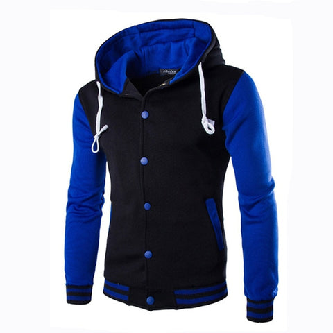 TANGNEST Autumn Men Hoodie 2019 New Stitching Two-tone Hooded Men's Casual Sweatershirt  8 Colors Asian Size 5XL MWW1486 - one46.com.au