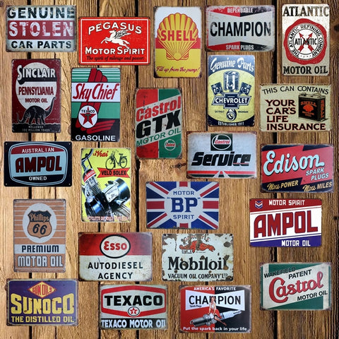 [ Mike86 ] Castrol CHAMPION Motor oil Tin Sign Metal Plaque Poster Custom Painting Garage Classic Decor Art LT-1690 - one46.com.au