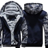 2019 new Winter Warm Hoodies wool liner tracksuits Coat men Thick Zipper Jacket male solid color no print Sweatshirt size M-4XL - one46.com.au