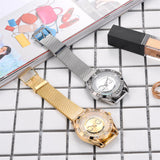 Women Dress Watches Stainless Steel Exquisite Watch Women Rhinestone Luxury Casual Quartz Watch Relojes Mujer 2019 New Arrivals - one46.com.au