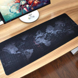 Extra Large Mouse Pad World Map Mousepad Anti-slip Natural Rubber Gaming Mouse Mat with Locking Edge for Office/Game/Desktop - one46.com.au