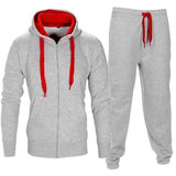 TANGNEST Men Casual Hoodie 2018 Tracksuit Fitness Wear Clothes For Men 2pcs Casual Sweatershirt Pants Hoodie MWW1501 - one46.com.au