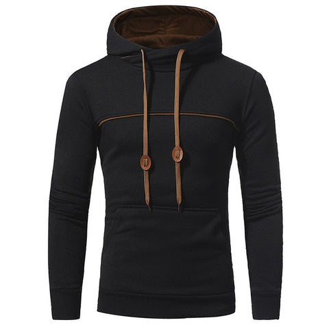 TANGNEST Men's Hooded 2018 New Arrial Casual Stitching Design Men Popular Confortable Sweatshirt Hoodie Male Asian 3XL MWW1421 - one46.com.au