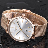 LIGE Womens Watches Top Brand Luxury Waterproof Watch Fashion Ladies Stainless Steel Ultra-Thin Casual  Wristwatch Quartz Clock - one46.com.au