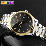 SKMEI Fashion Mens Watches Top Brand Luxury Business Watch Men Stainless Steel Strap Quartz Wristwatches Relogio Masculino 9101 - one46.com.au