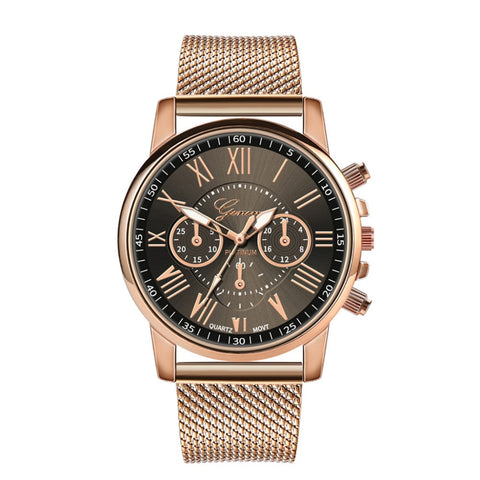 Luxury Womens Quartz Watches Women Watches Women's Quartz Sport Military Stainless Steel Dial Alloy Band Wrist Watch 2019 #30 - one46.com.au