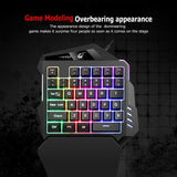 K13 USB Wired Single Hand Gaming Keyboard Mix-color Backlit 35 Keys Keypad for PC Computer Desktop - one46.com.au