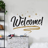 Creative Welcome Wall Sticker Shop Home Glass Door Window Wall Stickers Wall Decals Kids Room Wall Door Decoration 56 X 38cm - one46.com.au