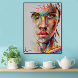 Abstract Knife Portrait Oil Painting Modern Big Size Canvas Wall Art Printed Canvas Posters Prints Dropshipping no Frame - one46.com.au
