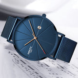 NIBOSI Fashion Mens Watch Quartz Watch Men Casual Slim Mesh Steel Date Waterproof Sport Watch Relogio Masculino - one46.com.au