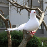 Doves Artificial Foam Feather White Pigeon Bird Craft Birds DIY Home Party Decorations Wedding Ornament - one46.com.au