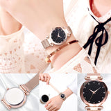 Luxury Women Watches Ladies Magnetic Starry Sky Clock Fashion Diamond Female Quartz Wristwatches relogio feminino zegarek damski - one46.com.au