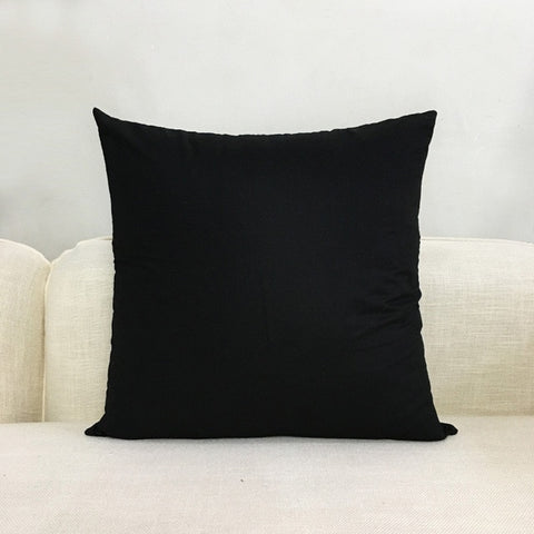 Red Color Cushion Cover Cotton Throw Pillow Case Solid Color Cushions Cover Office Home Decorative XF454-2 - one46.com.au