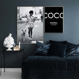Decoration Fashion Dogs Woman Poster Canvas Painting COCO Posters and Prints Wall Art Picture For Kids Room Decor For Home - one46.com.au