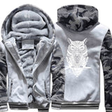 Men Clothing winter top Camouflage sleeve coats animal Printed Plus Size Brand sweatshirts 2019 Fashion Men's wool liner jackets - one46.com.au