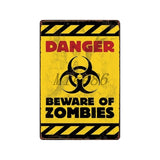 [ Mike86 ] Zombie CAUTION Beware Metal Tin Sign Vintage Home Pub Retro metal wall Painting art Poster ArtFG-508 - one46.com.au