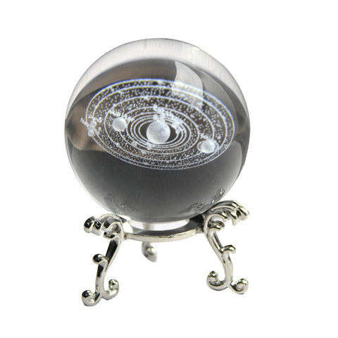 3D Solar System Miniature Crystal Ball Engraved Planets Model Home Decor Gifts E2S - one46.com.au