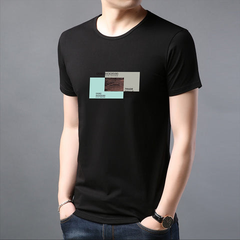 2019 New Fashion Brand T Shirts Mens 100% Cotton O Neck Trending Streetwear Tops Summer Korean Short Sleeve Tee Mens Clothing