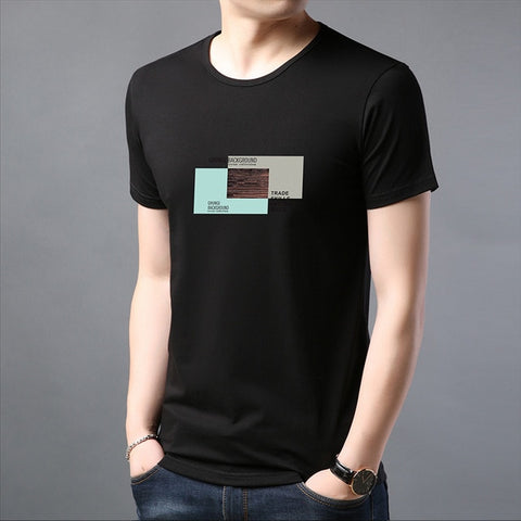 2019 New Fashion Brand T Shirts Mens 100% Cotton O Neck Trending Streetwear Tops Summer Korean Short Sleeve Tee Mens Clothing - one46.com.au