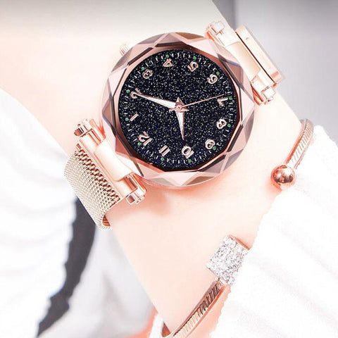 Luxury Luminous Women Watches Starry Sky Magnetic Female Wristwatch Waterproof Rhinestone Clock relogio feminino montre femme - one46.com.au