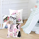 45cm*45cm Hand painted flowers and perfume bottles super soft cushion cover and sofa pillow case Home decorative pillow cover - one46.com.au