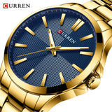 CURREN Gold Stainless Steel Luxury Quartz Men WatchesMens Business Male Clock Montre Homme Zegarek Meski Erkek Kol Saati - one46.com.au