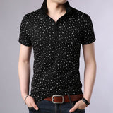 2019 New Fashions Brand Designer Polo Shirt Men Print Summer Short Sleeve Slim Fit Mercerized Cotton Polo Casual Men Clothing - one46.com.au