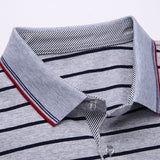 2019 New Fashion Brand Clothes Polo Shirts Men Striped Top Grade Summer Slim Fit Short Sleeve Cotton Boys Casual Men Clothes - one46.com.au
