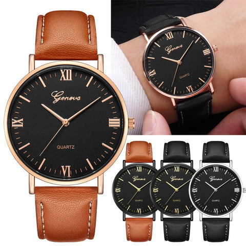 Geneva Classic Hot Luxury Business Unisex Women Ladies Stainless Steel Analog Quartz Analog Wrist Watch Wholesale Dropshipping - one46.com.au