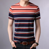 2019 New Fashion Brand T Shirt For Men O Neck Trending Street Wear Tops Summer Striped Boys Short Sleeve T-Shirt Mens Clothing - one46.com.au
